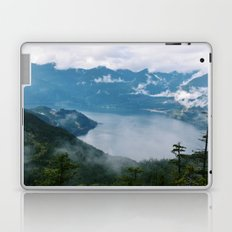 Fog over the water in Squamish BC Laptop & iPad Skin