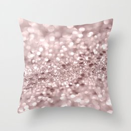 Sparkling Rose Gold Blush Glitter #1 #shiny #decor #art #society6 Throw Pillow