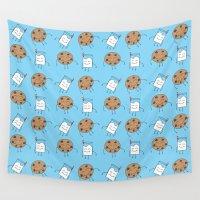 cookies Wall Tapestries featuring Milk & Cookies by pondlifeforme