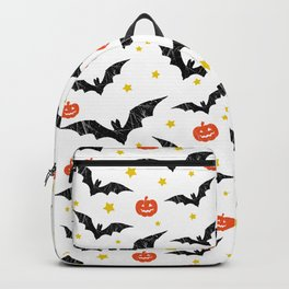 Halloween Pumpkins And Bats Backpack