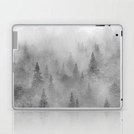 Foggy sunrise. BW. Pinsapos into the woods. Square Laptop & iPad Skin