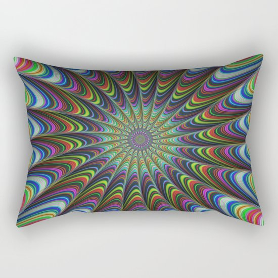 Psychedelic star Rectangular Pillow