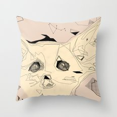 sandfox Throw Pillow