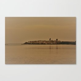 fishing in the coast from Spain Canvas Print