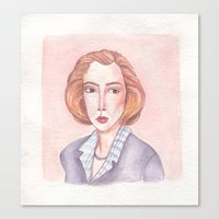 scully Canvas Prints featuring Scully by libbygrace