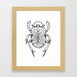the mighty scarab Framed Art Print