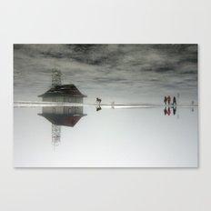Dogs & Fog Canvas Print