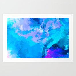THE CLOUDY SIDE OF LIFE Art Print