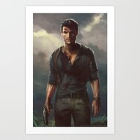 uncharted Art Prints featuring Uncharted by therealmcgee