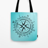 nautical Tote Bags featuring Nautical  by gypsykissphotography