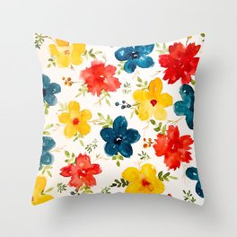 Warm flowers Throw Pillow