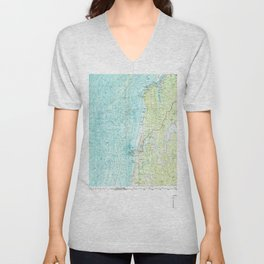OR Coos Bay 283066 1993 topographic map Unisex V-Neck