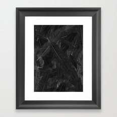 Feathered (Black). Framed Art Print