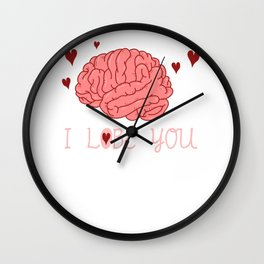 I Lobe You Funny Medicine Physician Medical School Student Wall Clock