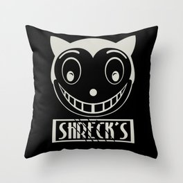 Catwomans been here Throw Pillow