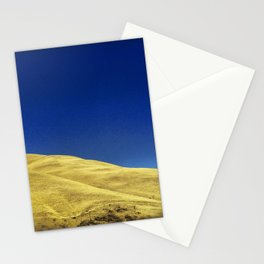 golden hillside Stationery Cards