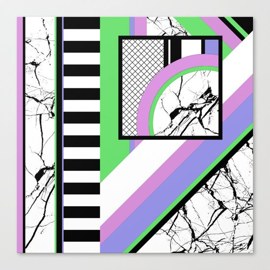AMPS Deux - Abstract, Marble, Pastel, Stripes Canvas Print