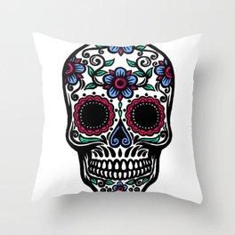 Sugar Skull 10 Throw Pillow