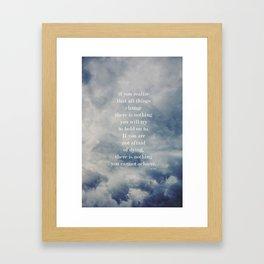 Change (Lao Tzu) Framed Art Print