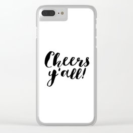 Party Like Gatsby Inspirational Quotes Wall Art Print Cheers Yall Printable Art Celebration Life Bar Clear iPhone Case