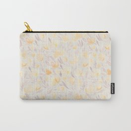 Floral watercolor orange pattern 2 Carry-All Pouch