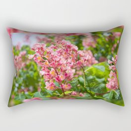 Aesculus red blossom cluster Rectangular Pillow
