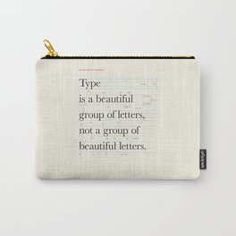 Typography Anatomy Carry-All Pouch