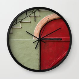 red door Wall Clock