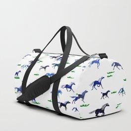 Blue Stampede Duffle Bag