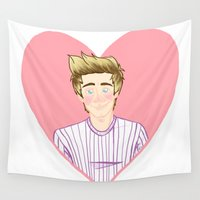 niall Wall Tapestries featuring Happy Birthday, Niall by Rach