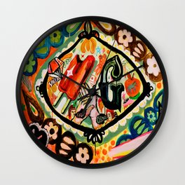 hello! space pops, ciseaux and G Wall Clock