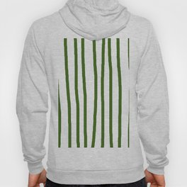 Simply Drawn Vertical Stripes in Jungle Green Hoody