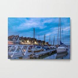 Fishing town Metal Print