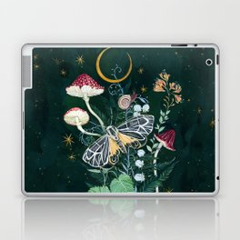 Mushroom night moth Laptop & iPad Skin