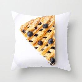 Blueberry Pie Throw Pillow