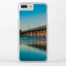 Newport Sunset Seagulls Clear iPhone Case
