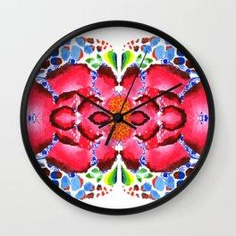 Reflected Watercolour Bloom Wall Clock