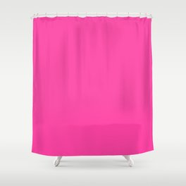 From The Crayon Box – Cerise - Bright Pink Purple Solid Color Shower Curtain