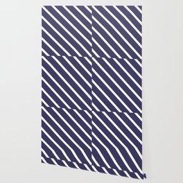 Purple Grape Diagonal Stripes Wallpaper