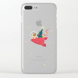 Laika Christmas Clear iPhone Case