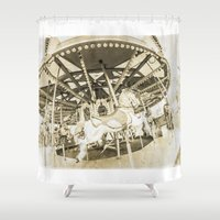 carousel Shower Curtains featuring Carousel by Barbara Northrup