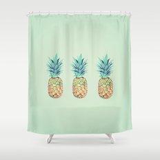 Pineapple, Ananas, Nanas, and Pina Shower Curtain