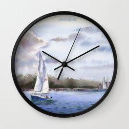 Setting Sail, Massachusetts Wall Clock