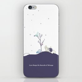 Love Keeps No Record of Wrongs iPhone Skin