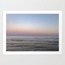 cotton candy sunset Art Print