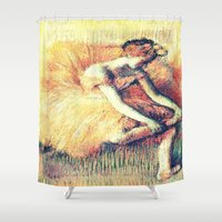 ballerina Shower Curtains featuring BallerinA by PureVintageLove
