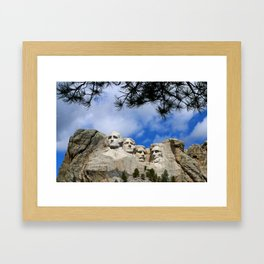 Mount Rushmore Framed Art Print