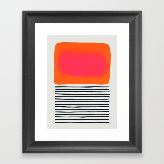 Sunset Ripples Gerahmter Kunstdruck