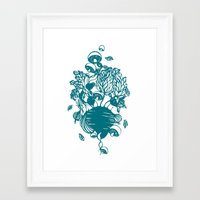 vegetables Framed Art Prints featuring Vegetables  by Sarah Dennis