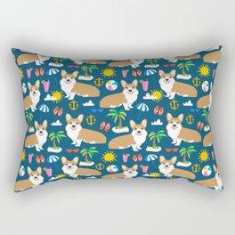 Corgi Beach summer fabric - cute dogs design Rectangular Pillow